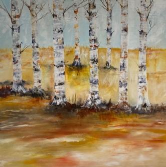 Skovens gyldne dag by Mette Hansgaard | maleri