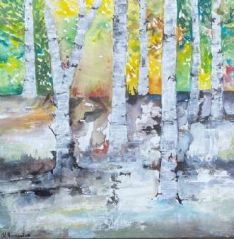 Forårsfornemmelser  by Mette Hansgaard | maleri