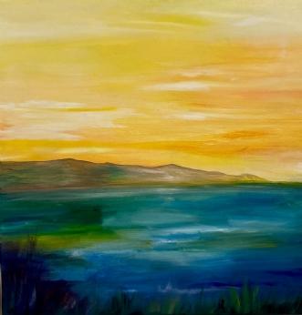 Morgenlys  by Mette Hansgaard | maleri