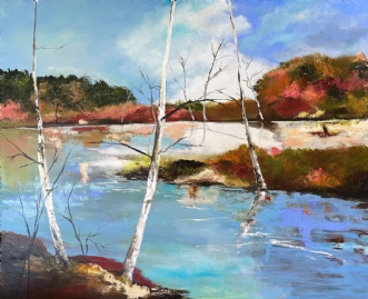 Fjord  by Maiken Hejnfelt   maleri