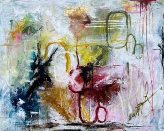 Joyful by Lone Bonde Haupt | maleri