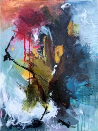 Abstract no1 by Lone Bonde Haupt | maleri