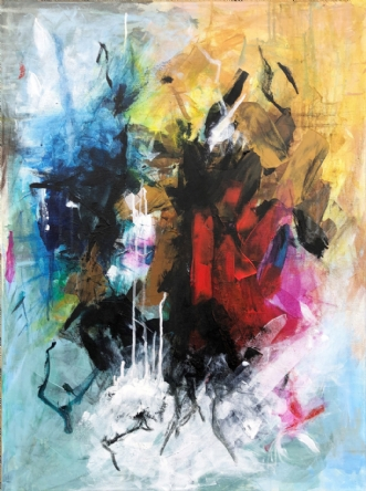 Abstract no2 by Lone Bonde Haupt | maleri