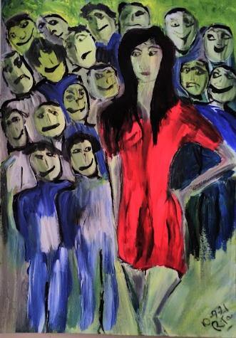 Gloomy admiration by Rita Laila Jensen | maleri