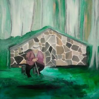 Grotten (the cave) by Rita Laila Jensen | maleri