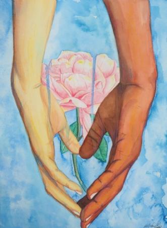 Kærlighedens sprog,.. by Helene Samdal | maleri