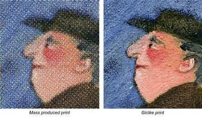 Et giclée [ zhee-klay ] print er et fantastisk højkvalitetsprint eller litografi af et kunstværk eller et foto